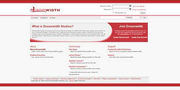 dreamwidth tumblr for creative artists