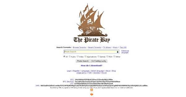 the pirates bay best torrent sites