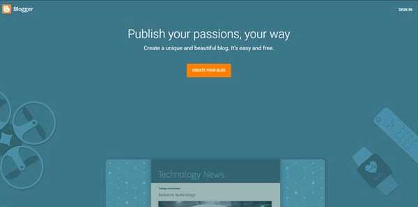 blogger tumblr alternative by Google