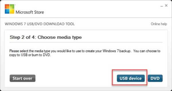 Choose USB as Media Device
